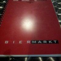 Photo taken at Bier Markt by Stephanie N. on 4/21/2012