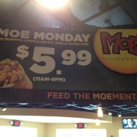 Photo taken at Moe's Southwest Grill by Christina on 7/31/2012