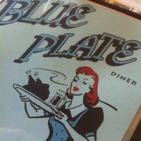 Photo taken at Blue Plate Diner by Brent S. on 3/22/2012