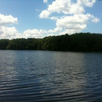 Photo taken at Burke Lake by Krystal R. on 7/16/2011