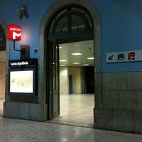 Photo taken at Metro Santa Apolónia [AZ] by Pedro F. on 6/7/2012