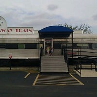 Photo taken at Runaway Train Cafe by Melanie G. on 9/17/2011