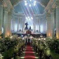 Photo taken at Igreja Matriz Santa Margarida Maria by Fernando M. on 1/28/2012