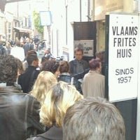 Photo taken at Vlaams Friteshuis Vleminckx by Christophe G. on 10/15/2011