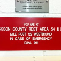 Photo taken at Jackson Co Rest Area 54 by Carl L. on 3/24/2011