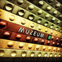 Photo taken at Metro =A= =C= Muzeum by Gilson G. on 7/9/2012