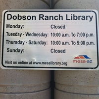 Photo taken at Dobson Ranch Branch Library by Eddie on 6/21/2011