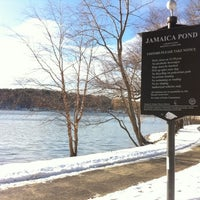 Photo taken at Jamaica Pond by BostonTweet on 12/21/2010