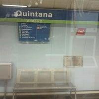 Photo taken at Metro Quintana by Pedro F. on 10/2/2011