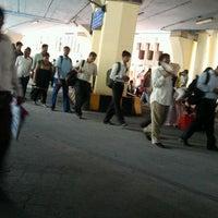 Photo taken at Thane Railway Station by Ramya N. on 4/21/2012