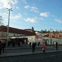 Photo taken at Malostranská (tram) by Marie m. on 1/10/2012