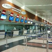 Photo taken at José Joaquín de Olmedo International Airport (GYE) by Marcela D. (SU5) on 10/22/2011