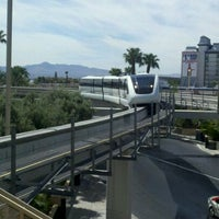 Photo taken at Las Vegas Monorail - MGM Grand Monorail Station by John C. on 7/28/2011