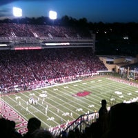 Photo taken at Donald W Reynolds Razorback Stadium by Brittani S. on 11/14/2011