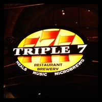 Photo taken at Triple 7 Restaurant & Brewery by Nick G. on 1/28/2012