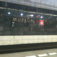 Photo taken at Metro =A= =C= Muzeum by kristyna c. on 10/28/2011