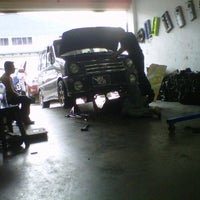Photo taken at X factory garage by Shah Niezzam A. on 1/17/2012