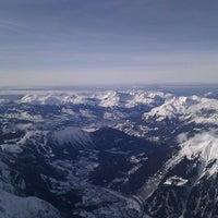 Photo taken at L'Aiguille du Midi (3842m) by Mihai D. on 1/1/2012