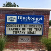 Photo taken at Bluebonnet Elementary by Jeana A. on 5/25/2012