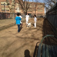 Photo taken at Veterans Grove Dog Run by Mariana B. on 3/8/2012