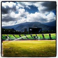 Photo taken at Estadio Olímpico Universitario by Diego Antonio D. on 5/27/2012