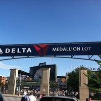 Photo taken at Delta Medallion Lot Braves Parking by Stephen G. on 5/29/2012