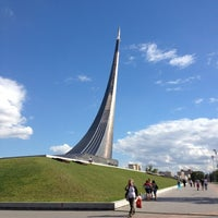 Photo taken at Monument to the Conquerors of Space by Катюшка on 6/30/2012