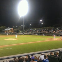 Photo taken at TicketReturn.com Field at Pelicans Ballpark by Sean F. on 8/8/2012