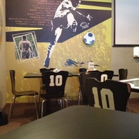 Photo taken at Pelé Arena Futebol & Café by Luccas on 7/6/2012