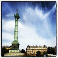 Photo taken at Place de la Bastille by Pierre J. on 7/18/2012