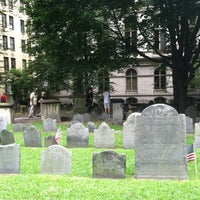 Photo taken at King's Chapel Burying Ground by Bryn T. on 8/14/2012