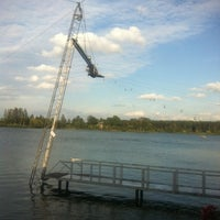 Photo taken at Ozolnieku Wakeboard by 👽👽👽Timmy👽👽👽 on 7/23/2012
