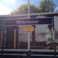 Photo taken at Winchester Railway Station (WIN) by Ian T. on 5/15/2012