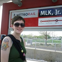 Photo taken at MetroRail - MLK Jr. Station by Nikki G. on 3/15/2012