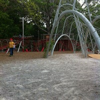 Photo taken at Woodland Discovery Playground @ Shelby Farms by Melissa H. on 4/3/2012