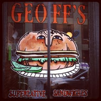 Photo taken at Geoff's Superlative Sandwiches by Anthony M. on 5/26/2012