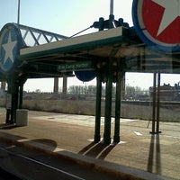 Photo taken at NFTA Metro Rail Erie Canal Harbor Station by Jo D. on 4/12/2012