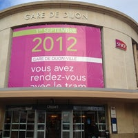 Photo taken at Gare SNCF de Dijon Ville by Baptiste P. on 7/19/2012