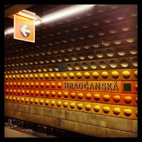 Photo taken at Metro =A= Hradčanská by Jan M. on 2/28/2013