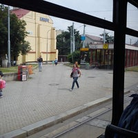 Photo taken at Palmovka (tram, bus, trol) by Vlaďa M. on 7/5/2013