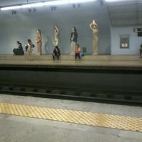 Photo taken at Metro Campo Pequeno [AM] by GasparIks on 7/25/2013