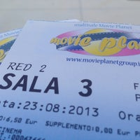 Photo taken at Cinema Multisala Movie Planet by Lucia L. on 8/23/2013