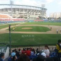 Photo taken at Mudeung Baseball Stadium by 정욱 양. on 8/31/2013