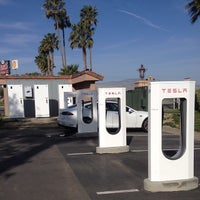 Photo taken at Tesla Supercharger Station by JonMichael B. on 3/20/2014