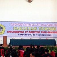 Photo taken at Universitas 17 Agustus 1945 (UNTAG) Samarinda by Fachrizal D. on 8/26/2013