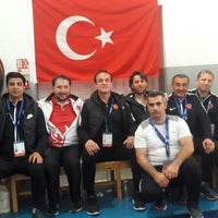 Photo taken at Salle Omnisports d'Hammamet by Sedat A. on 4/12/2018