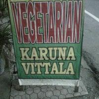 Photo taken at Karuna Vitalla vegetarian warung by fuu l. on 8/12/2013