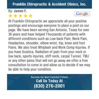 Photo taken at Franklin Chiropractic & Accident Clinics,Inc by James F. on 3/6/2018