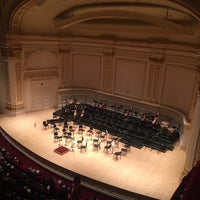 Foto tirada no(a) Stern Auditorium / Perelman Stage at Carnegie Hall por Ben M. em 1/25/2017