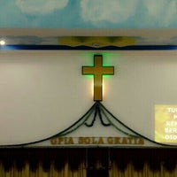 Photo taken at Gereja Pantekosta Isa Almasih 'Sola Gratia' by T.R.A.V.I.S. on 10/30/2013